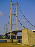 The Humber Bridge, from the South, England, Uk Photographic Print by Tony Waltham