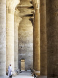 Columns in the Hypostyle Hall, Temple of Horus, Edfu, Egypt, North Africa, Africa Photographic Print by Tony Waltham