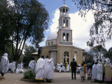 Festival of St. Mary's, St. Mary's Church, Addis Ababa, Ethiopia, Africa Photographic Print by Jane Sweeney