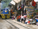 Aguas Calientes, Tourist Town Below Inca Ruins, Built Round Railway, Machu Picchu, Peru Photographic Print by Tony Waltham