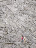 Recent Pahoehoe Basalt Lavas, Erte Ale Volcano, Danakil Depression, Ethiopia, Africa Photographic Print by Tony Waltham