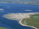 Delta of Sand at River Mouth, Kvaenangen Sorfjord, North Norway, Scandinavia Photographic Print by Tony Waltham