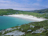 Beach and Dunes of Shell-Sand, Huisinis, North Harris, Outer Hebrides, Scotland, UK Photographic Print by Tony Waltham