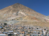 Cerro Rico, Richest Hill on Earth, Historical Site of Major Silver Mining, Potosi, Bolivia Photographic Print by Tony Waltham