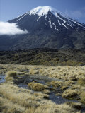Dormant Volcano, Mount Ngauruhoe, Tongariro National Park, Taupo Photographic Print by Tony Waltham