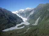 Fox Glacier, Westland, West Coast, South Island, New Zealand Photographic Print by D H Webster