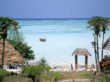 Indian Ocean from the Ras Nungwi Beach Hotel, Zanzibar, Tanzania, East Africa, Africa Photographic Print by D H Webster