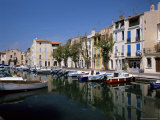 View Across Canal to Colourful Houses, Martigues, Bouches-Du-Rhone, Provence, France Photographic Print by Ruth Tomlinson