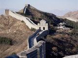 The Great Wall of China, Unesco World Heritage Site, Near Beijing, China Fotoprint van Adina Tovy