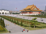 Chiang Kai Shek Memorial Square, Hall and National Theatre, Taipei, Taiwan Photographic Print by Adina Tovy