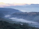 First Light on the Serrania De Ronda, with Mist in the Valley, Ronda, Malaga, Andalucia, Spain Photographic Print by Ruth Tomlinson