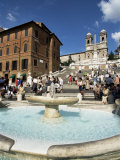 Barcaccia Fountain, Piazza Di Spagna, Rome, Lazio, Italy Photographic Print by Guy Thouvenin