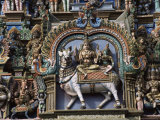 Detail of Shri Meenakshi-Sundareshwarar Temnple, Madurai, Tamil Nadu State, India Photographic Print by Jane Sweeney