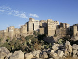 Village of Manakhah, Yemen, Middle East Photographic Print by Doug Traverso