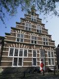 Galgewater, Stadstimmerwerf, Old Town, Leiden, Holland Fotografie-Druck von I Vanderharst
