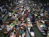 Floating Market, Near Bangkok, Thailand, Southeast Asia Photographic Print by Liba Taylor