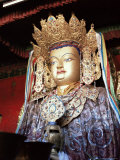 Statue of the Buddha, Lhasa, Tibet, China Photographic Print by Doug Traverso