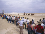 Racing Under Way on the Annual Race Day, Birdsville, Queensland, Australia Photographic Print by Julia Thorne