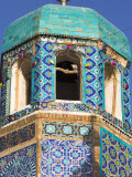 Famous White Pigeon in Minaret, Who was Assassinated in 661, Afghanistan Photographic Print by Jane Sweeney