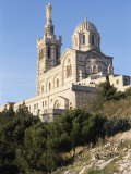 Notre Dame De La Garde, Marseille, Bouches-Du-Rhone, Provence, France Photographic Print by Guy Thouvenin