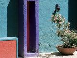 Pastel Coloured Walls in Village, La Placita, Tucson, Arizona, USA Photographic Print by Ruth Tomlinson