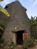 Traditional Beehive House of the Dorze People Made Entirely from Organic Materials, Ethiopia Photographic Print by Jane Sweeney