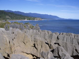 Pancake Rocks, Punakaiki, West Coast, South Island, New Zealand Photographic Print by D H Webster
