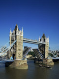 Tower Bridge Open, London, England, United Kingdom Photographic Print by Adina Tovy