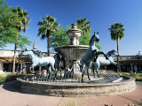 Bronze Horse Fountain in the Up-Market 5th Avenue Shopping District, Scottsdale, Phoenix, USA Photographic Print by Ruth Tomlinson