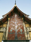 Wall Detail, the Red Chapel, Wat Xieng Thong, Unesco World Heritage Site Photographic Print by Doug Traverso