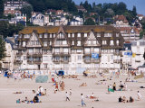 The Beach, Trouville, Basse Normandie (Normandy), France Photographic Print by Guy Thouvenin