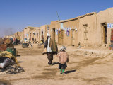 Street Scene, Dulainai, Between Chakhcharan and Jam, Afghanistan Photographic Print by Jane Sweeney