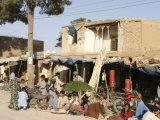 Street Scene, Maimana, Faryab Province, Afghanistan Fotografiskt tryck av Jane Sweeney