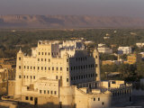Sultan's Palace, Say'Un, Wadi Hadhramawt, Yemen, Middle East Photographic Print by Doug Traverso