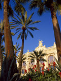 Palm Trees and Flowers in Front of the Casino at Monte Carlo, Monaco Photographic Print by Ruth Tomlinson