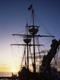 Pirate Ship in Hog Sty Bay, During Pirates' Week Celebrations, George Town, Cayman Islands Photographic Print by Ruth Tomlinson