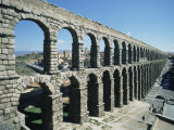 Roman Aqueduct, Segovia, Unesco World Heritage Site, Castilla Leon, Spain Photographic Print by Adina Tovy