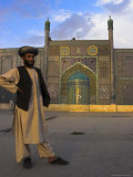 Pilgrim Outside the Shrine of Hazrat Ali, Who was Assassinated in 661, Mazar-I-Sharif, Afghanistan Photographic Print by Jane Sweeney