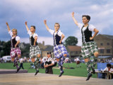 Dancers at the Highland Games, Edinburgh, Lothian, Scotland, United Kingdom Photographic Print by Adina Tovy