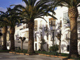 Spanish Architecture and Palm Trees, Tarifa, Andalucia, Spain Photographic Print by D H Webster