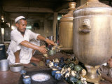 Tea Stall, Peshawar, North West Frontier Province, Pakistan Photographic Print by Doug Traverso