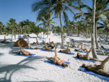 Yoga on the Beach, Cancun, Quintana Roo, Yucatan, Mexico, North America Photographic Print by Adina Tovy