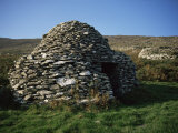 Ancient Roman Beehive Huts, Slea Head, Dingle Peninsula, County Kerry, Munster, Eire Photographic Print by D H Webster