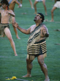 Maoris Perform Traditional Action Songs, Auckland, North Island, New Zealand Photographic Print by Julia Thorne