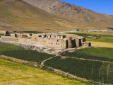 Farmhouse on the Southern Route Between Kabul and Bamiyan, Afghanistan Photographic Print by Jane Sweeney