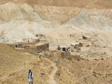 Man Walking up Mountain Road, Between Herat and Maimana, after Subzak Pass, Afghanistan Photographic Print by Jane Sweeney