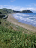Northern Beaches on the Coast Road, Gisborne, East Coast, North Island, New Zealand Photographic Print by D H Webster