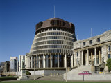 Old Parliament Building and the Beehive, Wellington, North Island, New Zealand Photographic Print by Adina Tovy