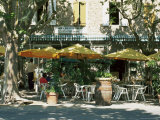 Pavement Cafe, Lagrasse, Aude, Languedoc-Roussillon, France Photographic Print by Ruth Tomlinson