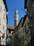 View to the Torre Del Mangia from the Via Giovanni Dupre, Siena, Tuscany, Italy Photographic Print by Ruth Tomlinson